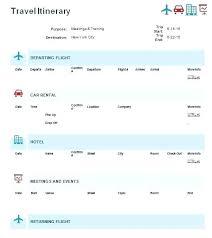 Itinerary Template Microsoft Word Chanceinc Co