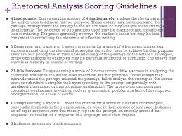 rhetorical analysis analyze this ppt  rhetorical analysis scoring guidelines