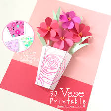 Flower Vase With Paper The Art Dream Blog