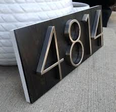 house number plaques modern modern house numbers plaque with ebony stained wood by modern glass house house number plaques