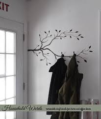 How To Make A Coat Rack Tree Tree Branch Decor Vinyl Wall Decal DIY Coat rack decal Could also 52
