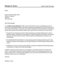 Qa Manager Cover Letter Sample Certified Six Sigma Black Belt Cover Letter