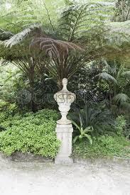 stone statues in a garden in sintra