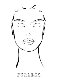 makeup face template eyes closed