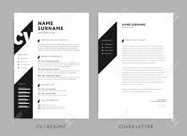 Minimalist Cv Resume And Cover Letter Minimal Design Template