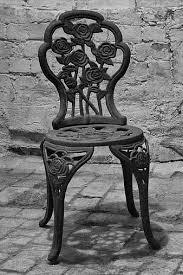 garden chair garden table old cast