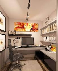 track lighting for art. Home Office , Decorating Small : With Wall Art And Open Track Lighting For N