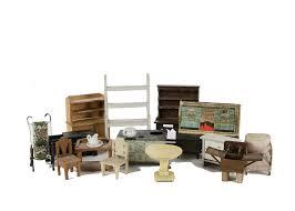 Dolls House Kitchen Furniture Dolls House Kitchen Furniture A Tinplate Range Cooker With Blue