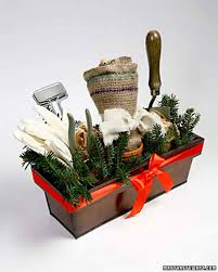 burlap leaf bag and garden kit martha stewart living give the gift of garden supplies with this charming handmade kit