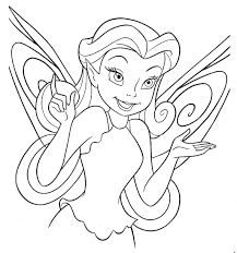 Disney Fairy Face Coloring Page Free