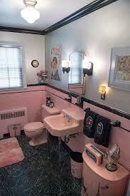 black and pink bathroom accessories. Adorable Best 25 Vintage Bathrooms Ideas On Pinterest Black And White In Retro Bathroom Accessories Interior Home Design Remodeling Pink L