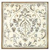 damask metal wall art