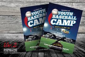 Baseball Camp Brochure Camp Flyer Template Christian Summer Camp