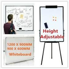 Magnetic Flip Chart Large Whiteboard Easel Tripod Magnetic Flip Chart Whiteboard