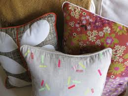 fancy pillows with piping