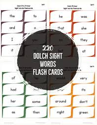 Dolch Sight Words Flash Cards Primarylearning Org
