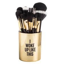 kit cosmetics brush holder woke up