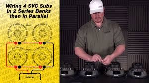 subwoofer wiring four 4 ohm svc subs in series parallel youtube Kicker Cvr 15 Wiring Kicker Cvr 15 Wiring #46 kicker cvr 15 wiring diagram