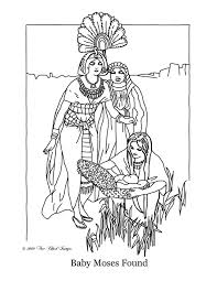 Baby Moses Coloring Page Printable Get Coloring Pages