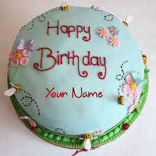 Write Name On Happy Birthday Cake For Father