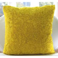 Image Contemporary Etsy Handmade Yellow Throw Pillows Cover 16x16 Silk Etsy