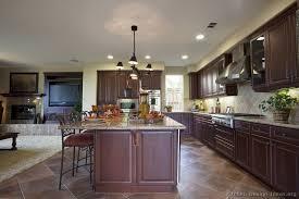 traditional open kitchen designs. Traditional Dark Wood-Cherry Kitchen Open Designs A