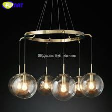 fumat modern round clear glass ball chandeilers restaurant hanging light fixtures bedroom living room lamps stained glass pendant light hand blown glass