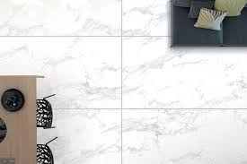 statuario white marble effect large 120x60cm thin porcelain tiles create a striking effect on this kitchen