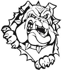 bulldog clipart black and white.  White Bulldog Baseball Throughout Clipart Black And White