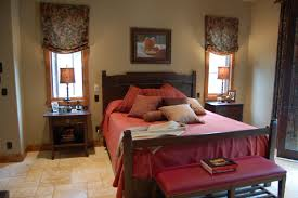 Bedroom  Design Ideas Miraculous Scarf Orange Curtains Single - Master bedroom window treatments