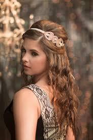 chagne wedding headband roaring 20s art deco flapper headband great gatsby headpiece chagne blush bridal hair piece