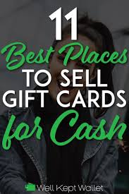 have you ever sold gift cards for cash before if so what was your experience