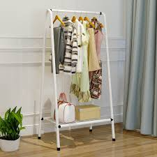 Coat Rack With Storage Space Beauteous LK32 Creative Portable Coat Racks Model Heavy Bearing Clothes Shoes