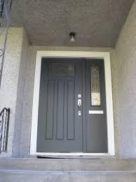 front door with sidelitesfront door color is BM wrought iron  House Remodel  Pinterest