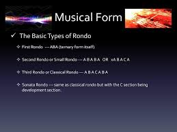 A Common Rondo Pattern Is