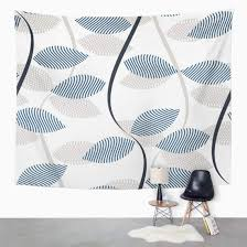 You can find creative designs and inspiration to help you decorate your room. Zealgned Blue Leaf Modern Graphic Abstract Line Simple Cute Beautiful Wall Art Hanging Tapestry Home Decor For Living Room Bedroom Dorm 60x80 Inch Walmart Com Walmart Com