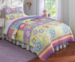 purple pink green fl girl bedding twin full queen quilt or comforter set spring summer