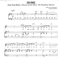 beauty and the beast sheet music beauty and the beast home pdf docdroid