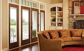 image of fiberglass french doors to replace sliding glass doors