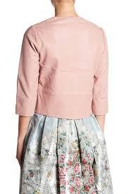 leather jacket ted baker london dusky pink wa7w gj65 rennay qqvzuyq