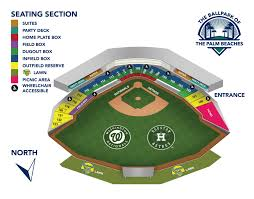 Nationals Baseball Seating Chart Cal Test Single Game Tickets Fitteam Ballpark Of The Palm