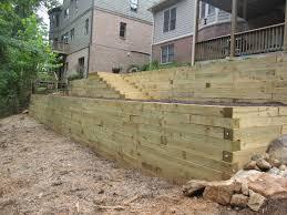 used 6 6 wood retaining wall