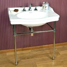 porcelain console sink console sink with metal legs console sink with metal legs console sink with