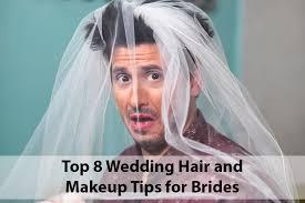 top 8 wedding hair makeup tips for brides