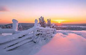 Wallpaper winter, the sun, snow, nature ...