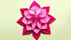 unique flower in origami style 3 modifications of paper flower for room decoration you