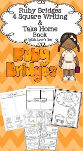 Ruby Bridges 4 Square Writing & Take Home Book | Graphic ...