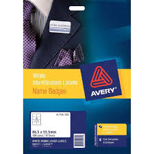 Avery Nametag Avery Fabric Name Badge Labels 120s 86 5 X 55 5mm