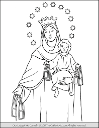 Small Picture Our Lady of Mt Carmel Coloring Page Mary Coloring Pages