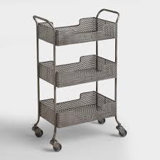 white metal furniture. Zinc Yvette Metal Circle Cart White Furniture
